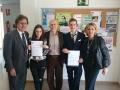 consegna attestati ai vincitori Università della Murcia